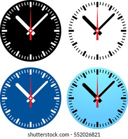 Set of clock face. Global colors used.