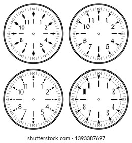 Clock Face Logo Images, Stock Photos & Vectors | Shutterstock