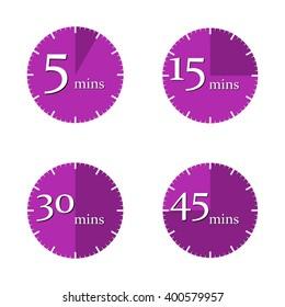 Set clock, vector illustration