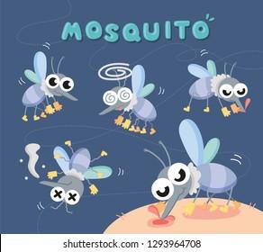 set close up mosquito