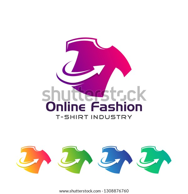 Set Cloth Shirt Logo Designs Concept Stock Vector Royalty Free 1308876760