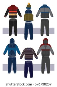 set with clothes for boy