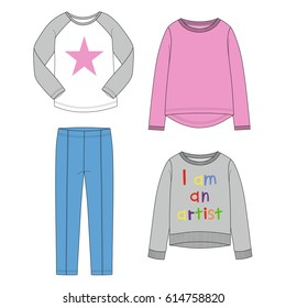 Set of clothes for  girls.
