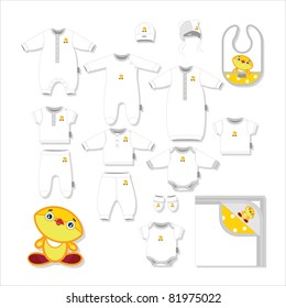 Set of clothes for newborns   (fifteen objects)