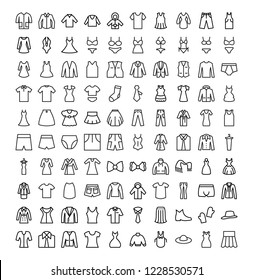 Set of Clothes vector icons