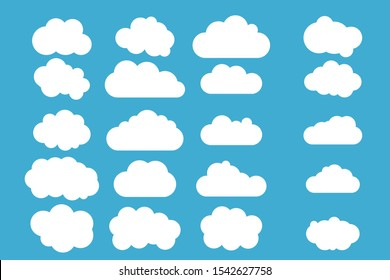 Set of Cloud Icons vector illustration