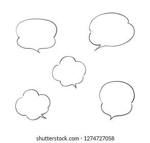 Set of cloud shaped balloon