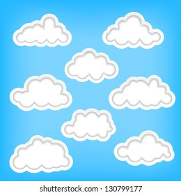 Set of clouds as background elements