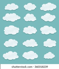 set of clouds drawing. vector
