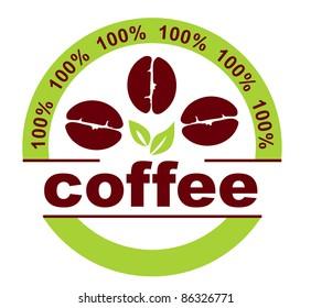 Set of coffee label designs.