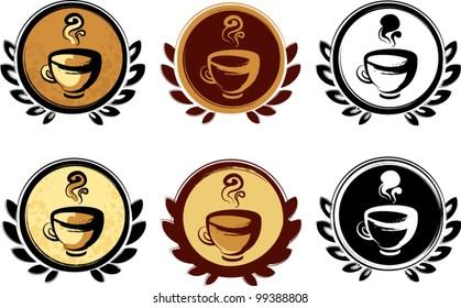 Set of Coffee logotype