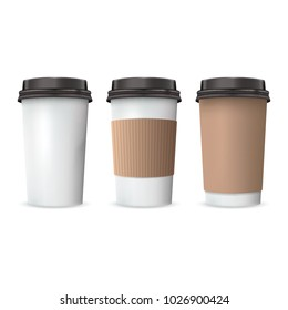 Set of Coffee Paper Cups