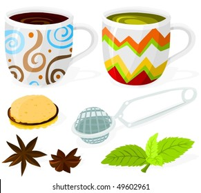 Set of coffee and tea accessories