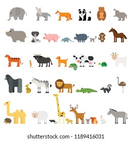 set collection animals vector illustration