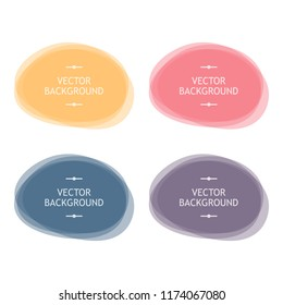 Set, collection of colorful vector abstract round frames, backgrounds.