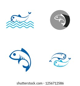 set collection fish logo