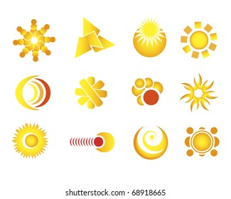 Set, collection of geometric vector design elements (mostly from circle). Very nice like icons or other website's elements.