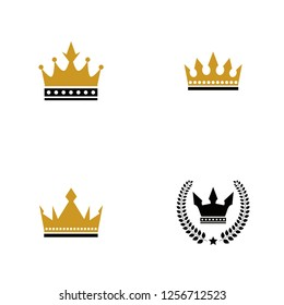 Set collection golden crown logo