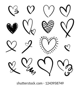 Set collection of hearts / Love designs for valentine's day, invitations, cards, stickers etc