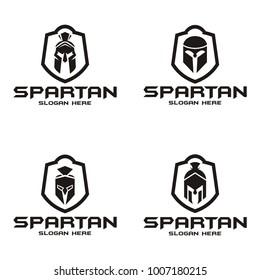 Set collection spartan logo
