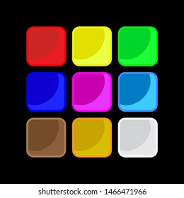 Set of color apps icons - background. Background for the app icons.