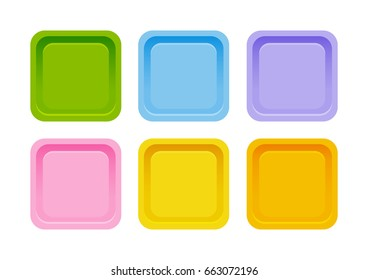 Set of color apps icons isolated on white