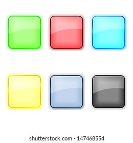 Set of color apps icons in pastel tones. EPS10 vector.