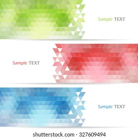 Set of color banners. Vector illustration