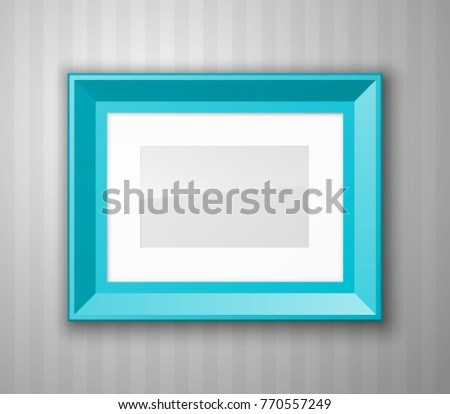 Set Color Blank Picture Frames Different Stock Vector Royalty Free