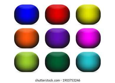 Set of color button for web or app.