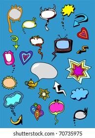 Set of Color Chat Elements