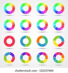 Set of color circle arrows (big collection)