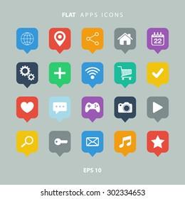 Ilustraciones, imágenes y vectores de stock sobre App Icon Purple