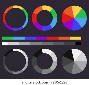 Set of color gradients. Color circle. Vector element for your design