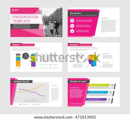 set color infographic elements presentation templates stock vector