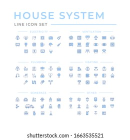 Set color line icons of house systems