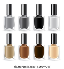 Set of Color Nail Polish : Vector Illustration