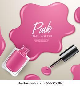 Set of Color Nail Polish : Vector Illustration
