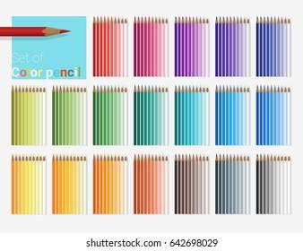 Set of color pencils , vector , illustration