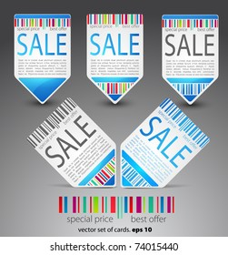 Set of color sale tickets