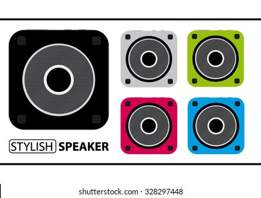 Set Of Color Speakers