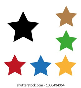 Set of color star icons.