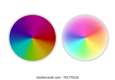 Set of color wheels.Circle color palette. Vector illustration