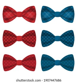 Set of colored bow ties vector illustration