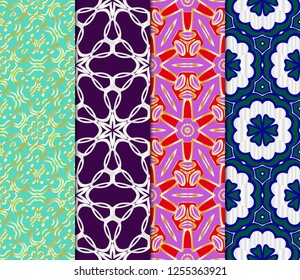Set of colored geometric vector pattern. Vector illustration. ideal for creative and decorative projects