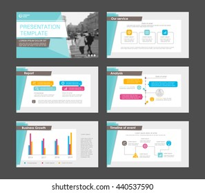 Set of colored infographic elements for presentation templates. Leaflet, Annual report, book cover design. Brochure, layout, Flyer template design.