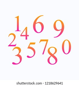 Set of colored numbers. Button icon. Web design. Vector. EPS 10.
