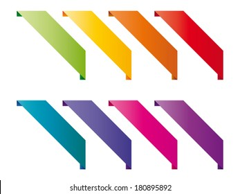Set of colored overlays