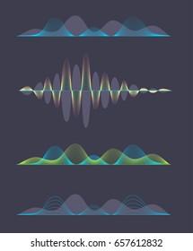 Set of colored sound waves equalizer design