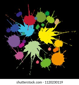 A set of colored stains